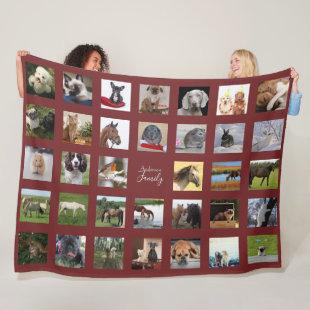 PET Photo Collage Blanket - Keepsake/Memorial Burg