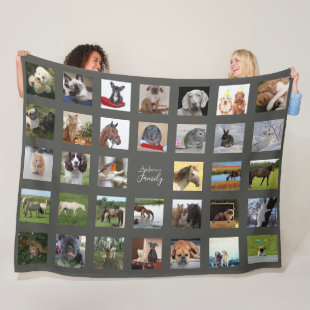 PET Photo Collage Blanket - Keepsake/Memorial Grey