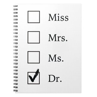 PhD gifts for women Notebook