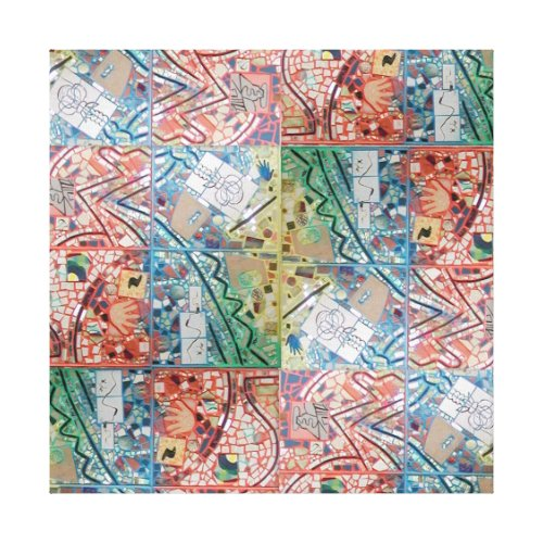 Phoenix Art Patchwork Mosaic Canvas Print