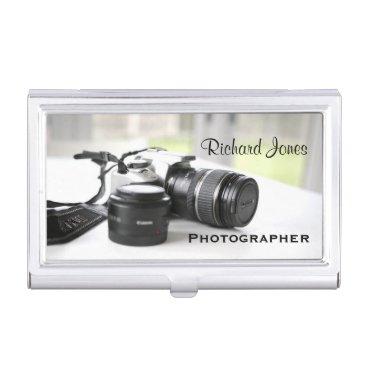 Photagraphy Photographer Camera Lens Business Card Case