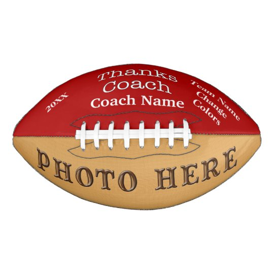 photo and personalized football