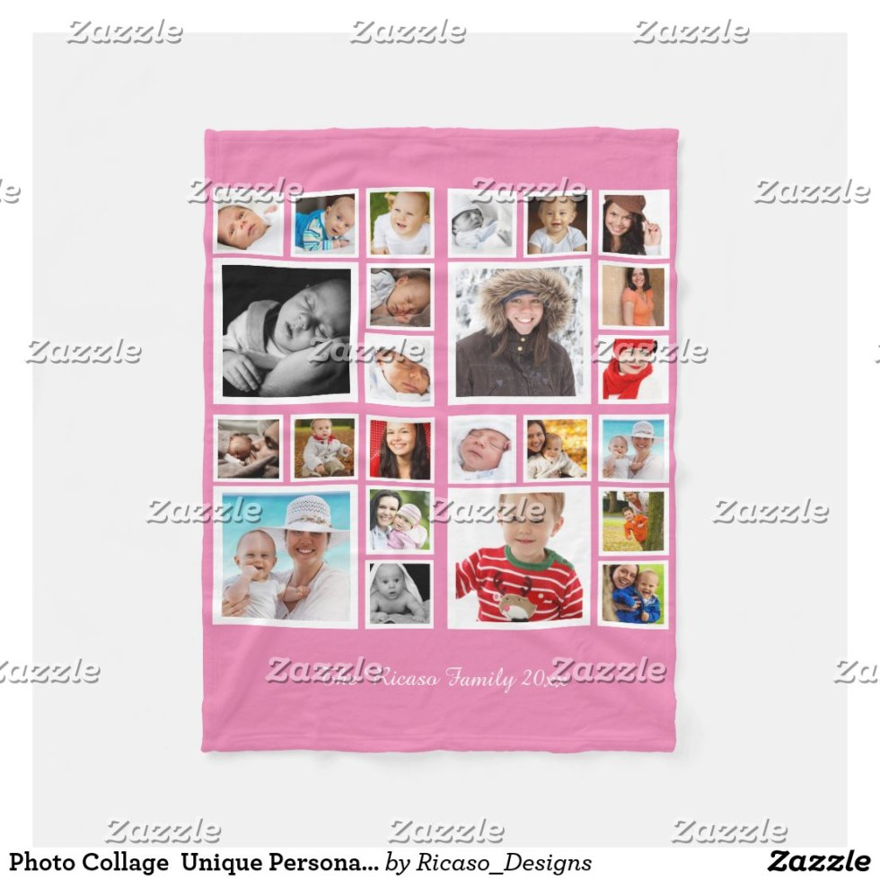 Photo Collage  Unique Personalized DIY Custom Fleece Blanket