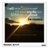 Photography Wall Decal with quote by E.E. Cummings | Zazzle
