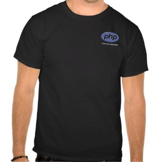 PHP Pretty Hot Programmer shirt