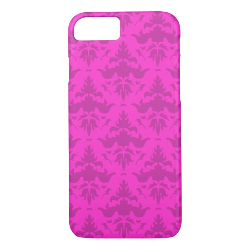 Pick Your Pink Fancy Damask Custom Elegance iPhone 7 Case