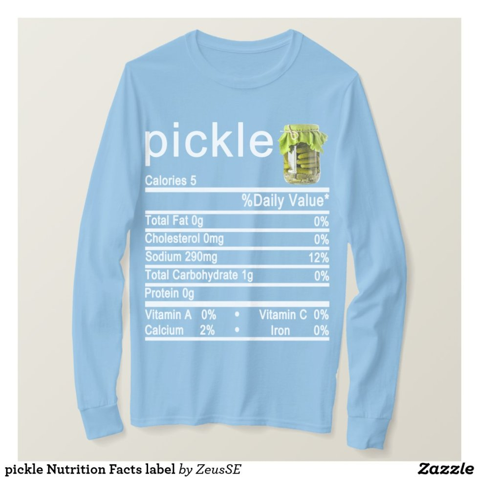 pickle Nutrition Facts label T-Shirt