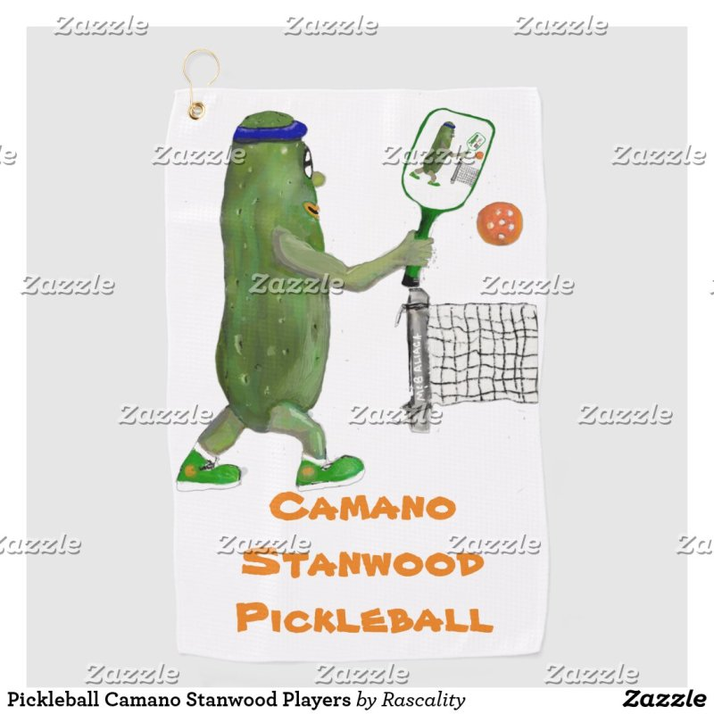 Pickleball Camano Stanwood Players Golf Towel