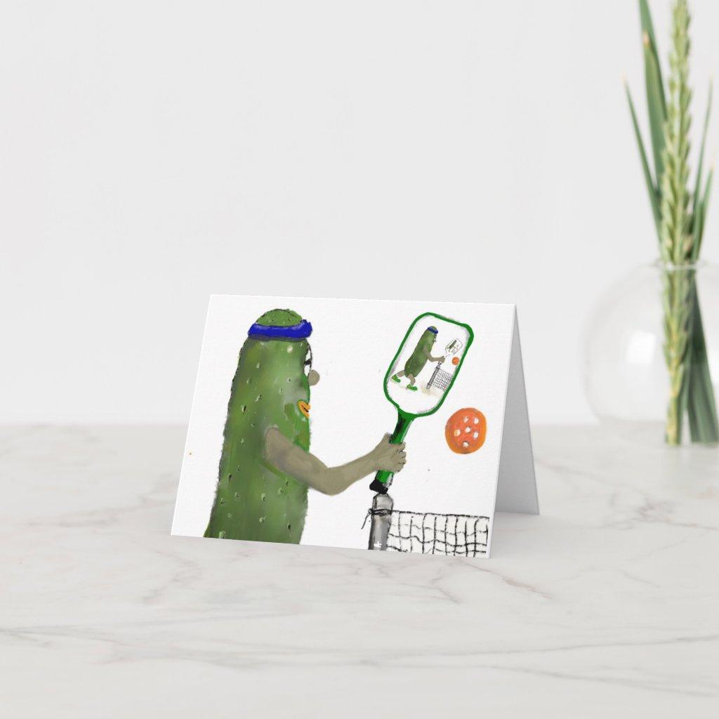 Pickleball Friends Blank Inside Greeting Card
