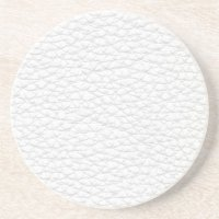 Picture of White Leather. Drink Coaster | Zazzle