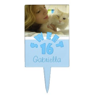 Picture: Sweet 16 Cake Pick
