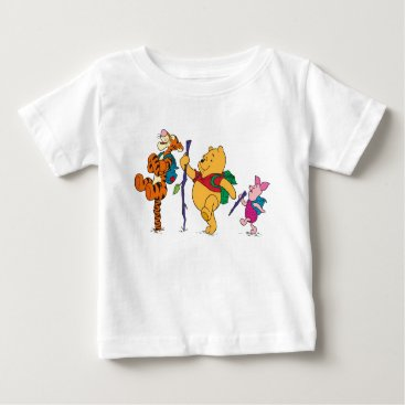 Piglet, Tigger, and Winnie the Pooh Hiking Baby T-Shirt