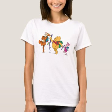 Piglet, Tigger, and Winnie the Pooh Hiking T-Shirt