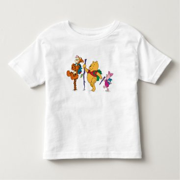 Piglet, Tigger, and Winnie the Pooh Hiking Toddler T-shirt