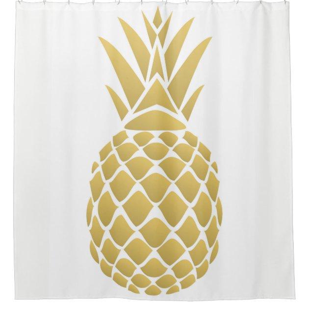pineapple shower curtain zazzle com