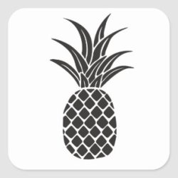 pineapple silhouette pink sticker gold stickers redbubble bright gifts invitations zazzle clipartmag