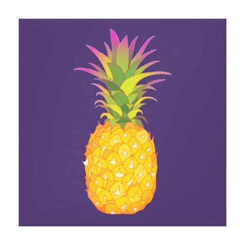 Pineapple Wrapped Canvas