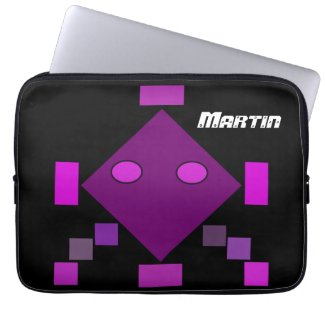 Pink abstract pattern Neopren Laptop Sleeve 12'