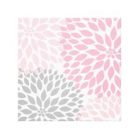 Pink and Gray Dahlia Square Wall Art Canvas Print | Zazzle