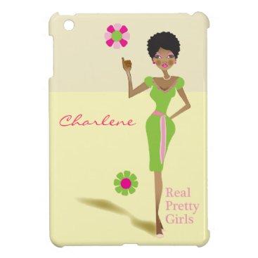 Pink and green sorority life iPad mini iPad Mini Cover