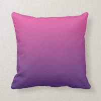 """Pink And Purple Ombre"" Pillows"
