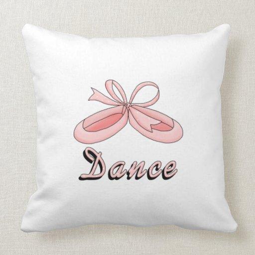 Pink Ballet Shoes Dance Pillow  Zazzle