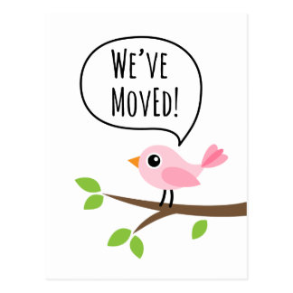 Cute We Have Moved Postcards Zazzle