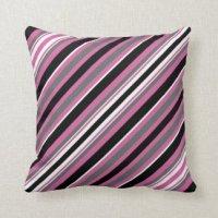 Striped Grey Black Pillows - Decorative & Throw Pillows ...