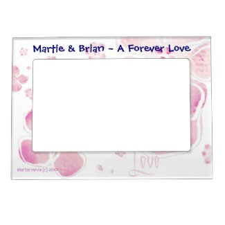 Pink Blossoms Love (Personalize) - Magnetic Frame