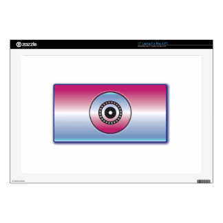 Pink & Blue Abstract Laptop Decals