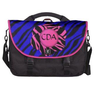 Pink/blue/blk Lips Monogram Rickshaw Laptop Bag