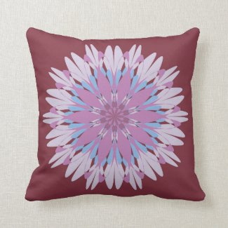 Pink blue mandala design pillows