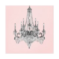 Pink Chandelier Canvas Wall Art | Zazzle