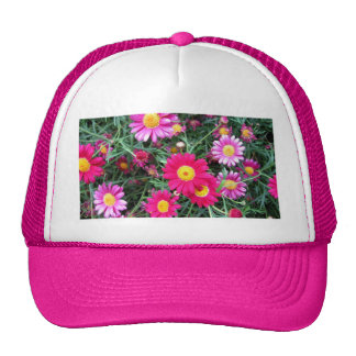 Pink Daisies Mesh Hat