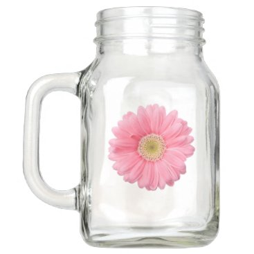 Pink Daisy Mason Jar Mug 20oz