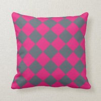 Pink diamond 16 x 16 decorative throw pillow | Zazzle