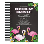 ❤️ Pink Flamingos Birthday Brunch Chalkboard Invitation (also available in blue)