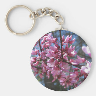 Pink Floral Branch Key Chain