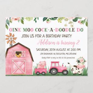 farm themed birthday invitations zazzle