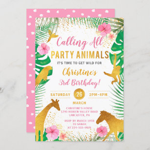 3rd birthday invitations zazzle