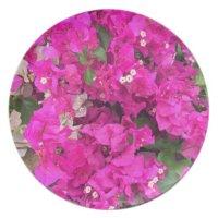 Pink Flowers Melamine Plate | Zazzle