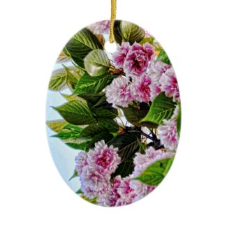 Pink Flowers Ornament ornament