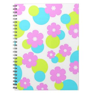 Pink flowers pattern note book