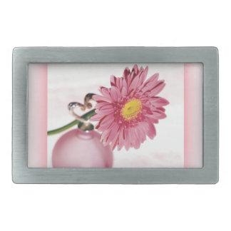 Pink Gerbera Daisy Belt Buckles
