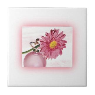 Pink Gerbera Daisy Ceramic Tiles