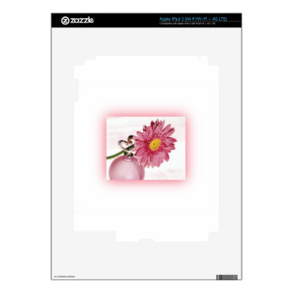 Pink Gerbera Daisy Decals For iPad 3