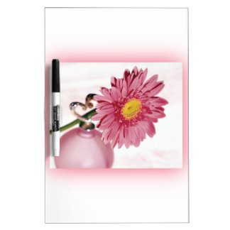 Pink Gerbera Daisy Dry-Erase Whiteboards