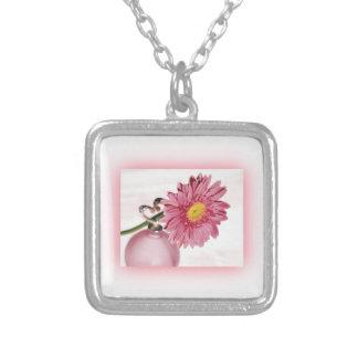 Pink Gerbera Daisy Pendants