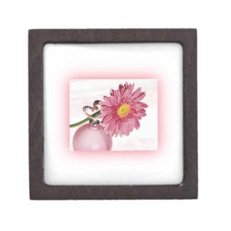 Pink Gerbera Daisy Premium Keepsake Box