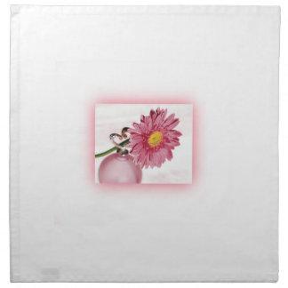 Pink Gerbera Daisy Printed Napkin